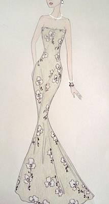 Evening Dress Mixed Media - Verdura by Christine Corretti