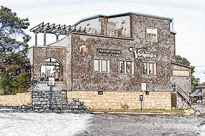 Arizona Digital Art - Verkamps Historic Visitor Center At Grand Canyon Village Colored Pencil by Shawn O'Brien
