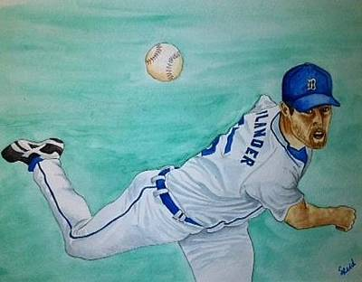 Painting - Verlander by Stephanie Reid