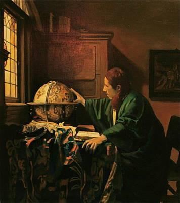 Painting - Vermeers The Astronomer Copy by Dan Koon