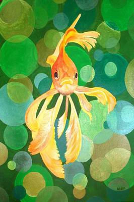 Painting - Vermilion Goldfish by Tracey Harrington-Simpson