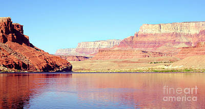 Vermillion Cliffs And Colorado River In Morning Light Art Print by Douglas Taylor