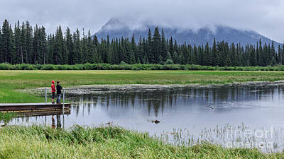 Photograph - Vermillion Lakes Banff National Park Canadian Rockies by Edward Fielding