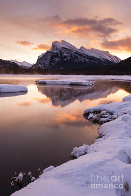 Vermillion Lakes In Banff National Park Art Print by Ginevre Smith