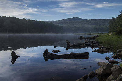 Middlebury Photograph - Vermont Abbey Pond Sunrise Reflections Forest by Andy Gimino