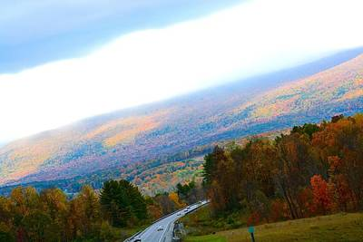 Photograph - Vermont Autumn Sunbreak 2 by Tana Reiff
