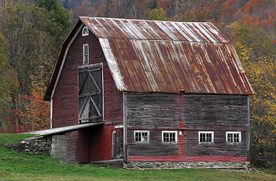 Photograph - Vermont Barn Art by Juergen Roth