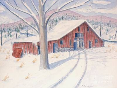 Painting - Vermont Barn by Craig Calabrese