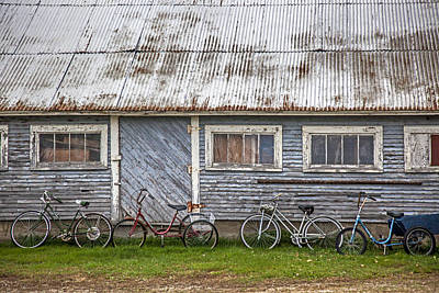 Photograph - Vermont Bicycles by Charles Harden