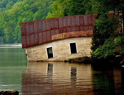 Photograph - Vermont Boathouse by John Haldane