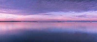 Vermont Burlington Lake Champlain Panorama Sunrise Art Print by Andy Gimino
