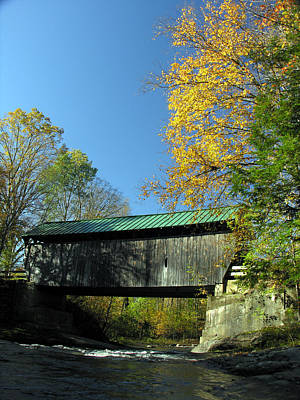 Photograph - Vermont Covered Bridge 1 by Robert Lozen