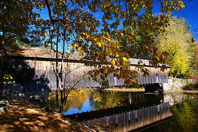 Photograph - Vermont Covered Bridge 2 by Robert Lozen