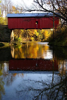 Photograph - Vermont Covered Bridge 4 by Robert Lozen