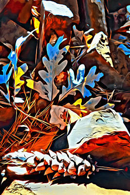Digital Art - Vermont Fall Leaves by Joan Reese