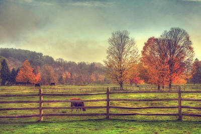 Autumn Scene Photograph - Vermont Farm In Autumn by Joann Vitali