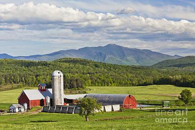 Photograph - Vermont Farm Scenic by Alan L Graham