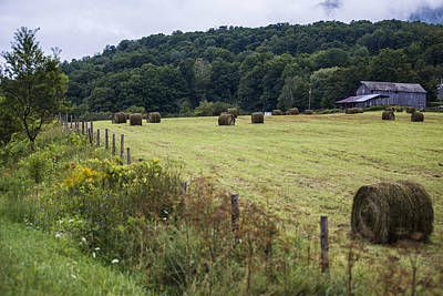 Photograph - Vermont Farm With Hay by John McGraw