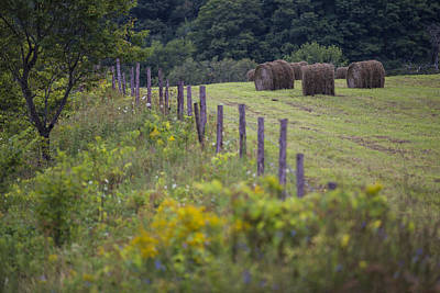 Photograph - Vermont Fence With Hay by John McGraw