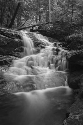 Vermont Photograph - Vermont Forest Waterfall Black And White by Andy Gimino