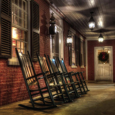 Rocking Chairs Photograph - Vermont Front Porch With Rocking Chairs by Joann Vitali
