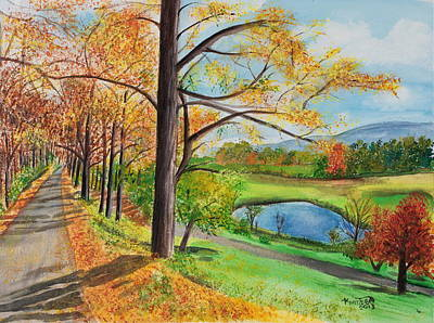 Vermont In The Fall Art Print