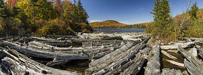 Vermont Wilderness Photograph - Vermont Kettle Pond Panorama Autumn Forest by Andy Gimino