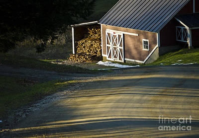 Vermont Maple Sugar Shack Sunset Art Print by Edward Fielding