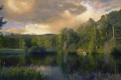 Hills Digital Art - Vermont Morning Reflection by Jeff Kolker