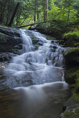 Vermont Wilderness Photograph - Vermont New England Waterfall Green Trees Forest by Andy Gimino