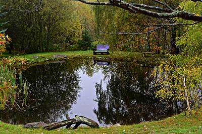 Photograph - Vermont Pond In Autumn by Tana Reiff
