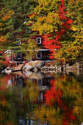 Photograph - Vermont Relections 3 by Robert Lozen