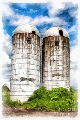 Vermont Silos Print by Edward Fielding