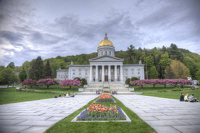Vermont State House Art Print
