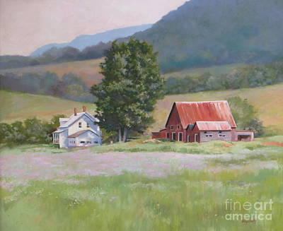 Wild Asters Painting - Vermont  Summer Farm by Karol Wyckoff