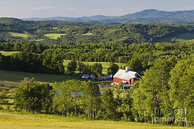 Photograph - Vermont Summer Landscape by Alan L Graham