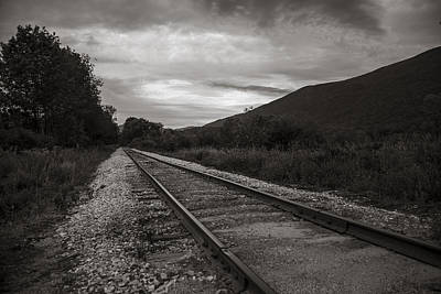 Photograph - Vermont Train Tracks In Sepia by John McGraw