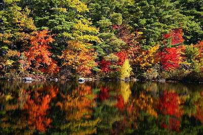 Photograph - Vermont Water Relections by Robert Lozen