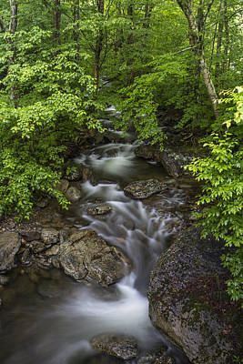 Forest Scenes Photograph - Vermont Waterfall Summer Mount Mansfield Forest by Andy Gimino