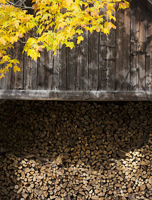 Photograph - Vermont Woodshed by Charles Harden