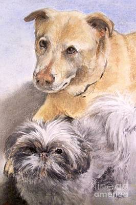 Art Print featuring the painting Vern And Molly by Mary Lynne Powers