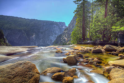 Art Print featuring the photograph Vernal Falls Overlook by Mike Lee
