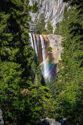 Art Print featuring the photograph Vernal Falls Rainbow by Mike Lee