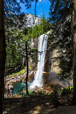 Vernal Falls Through The Trees Art Print by Mike Lee