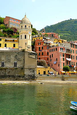Photograph - Vernazza Bell Tower by Corinne Rhode