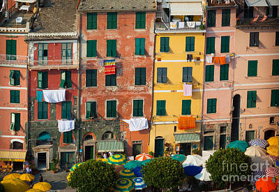 Vernazza Facades Print by Inge Johnsson