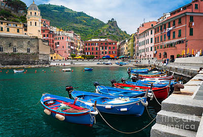 Port Town Photograph - Vernazza Harbor by Inge Johnsson