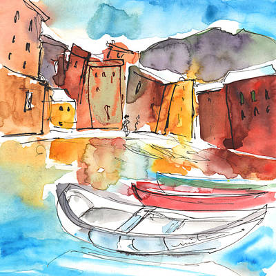 Painting - Vernazza In Italy 01 by Miki De Goodaboom