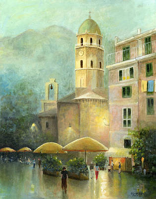 Technical Painting - Vernazza Italy by Cecilia Brendel