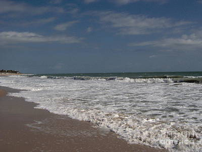 Sand Photograph - Vero Beach Surf by D Hackett